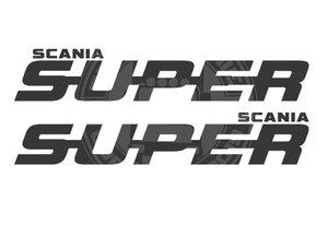 SUPER SCANIA  FENSTERAUFKLEBER