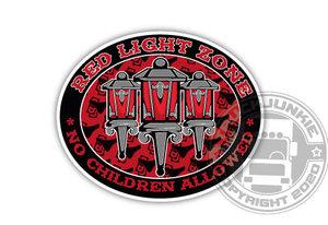 RED LIGHT ZONE - FULL PRINT STICKER