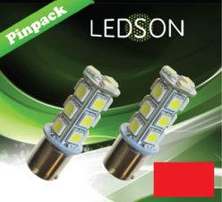 LED-LAMP ROT 360 P21W 18SMD BA15s