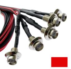 EINBAU LED-RED - CHROM - 5 Stück