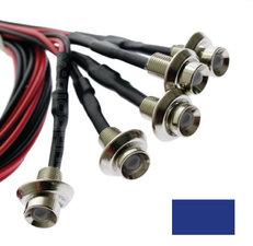 EINBAU LED- BLAU - CHROM - 5 Stück
