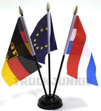 TRIPLE - LANDE FLAG MIT STÄNDER