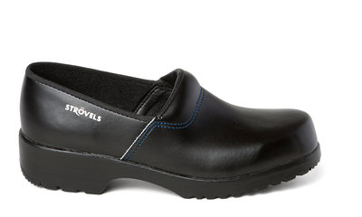 Swedish clog Strövels black with rubber sole